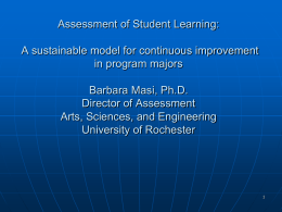 Introduction to Program Assessment Plans