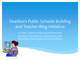 Dearborn Public Schools Building Technology Communication