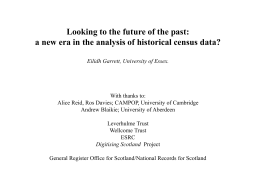 Dr. Eilidh Garrett - Biomathematics and Statistics Scotland