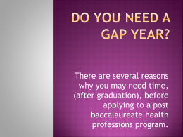 Do you need a Gap Year?