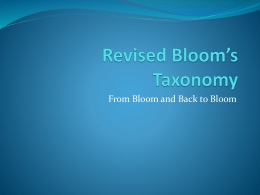 Revised Bloom`s Taxonomy