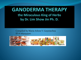GANODERMA THERAPY the Miraculous King of
