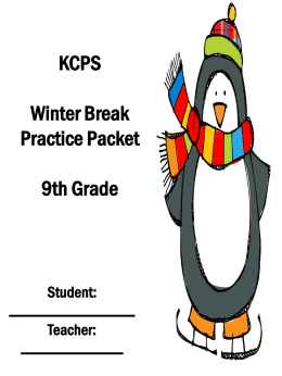 ELA Grade 9 Winter Break Packet SY1516