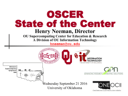 E - Oklahoma Supercomputing Symposium 2016