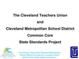 The Cleveland Teachers Union and Cleveland Metropolitan School