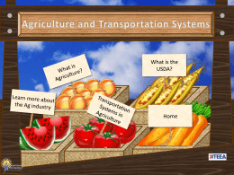 Transportation Systems in Agriculture
