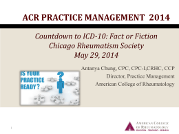 ICD-10-CM Diagnosis Codes - Chicago Rheumatism Society