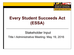 ESSA - Maryland State Department of Education
