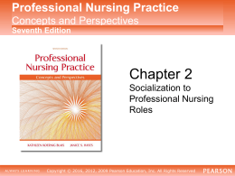 Socialization to Professional Nursing Roles