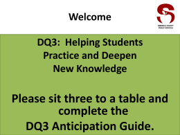 DQ3: Helping Students Practice and Deepen New Knowledge
