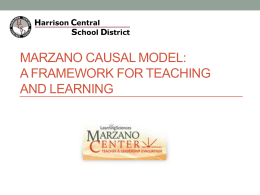 Orientation to the Marzano Framework PPT (9/3/13
