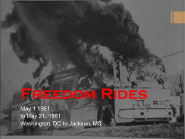 4 Freedom Riders Powerpoint