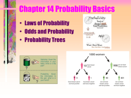 Chapters 14 Laws of Probability, Odds and
