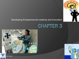 Entrepreneurship – Chapter 3