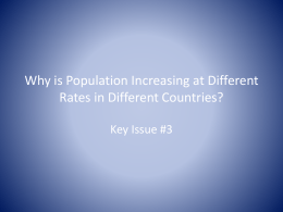 Why is Population Increasing at Different Rates
