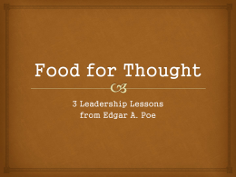 Food for Thought-3 Leadership Lessons from EA Poe
