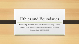 Ethics and Boundaries in Relationship