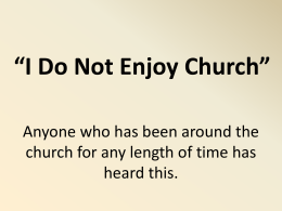 I Do Not Enjoy Church - Simple Bible Studies