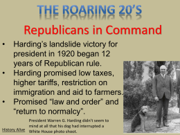 The Roaring 20`s History Alive