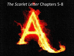 Scarlet Letter Chapters 5-8 PowerPoint