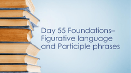 Day 55 Foundations–Figurative language