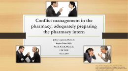 Conflict management in the pharmacy: adequately preparing