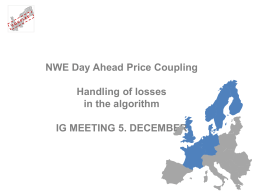 NWE Day Ahead Price Coupling Handling of losses in the