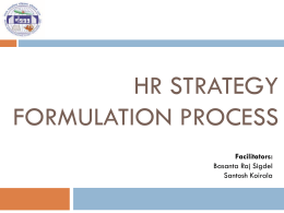 HR Strategy Formulation Process