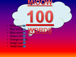Magic Words M100 Warm