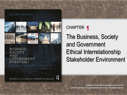 Business, Society, and Government