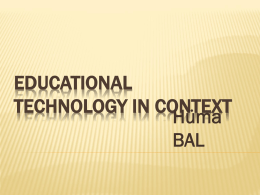 educational technology in context
