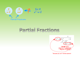 Partial Fractions - The Maths Orchard