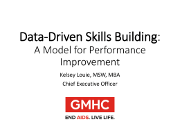 Data-Driven Skills Building: A Model for Performance Improvement
