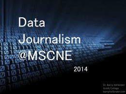 data journalism - Hollander`s Web Site
