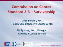 Joan Felkner, MA - Iowa Cancer Consortium