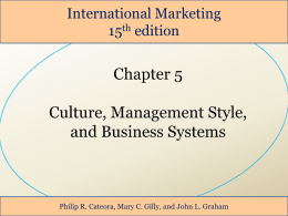 Slide 1 - International Business courses