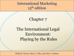 7 Marketing Laws - International Business courses