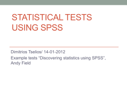 Statistical tests using SPSS