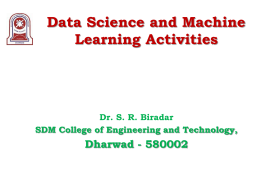 Data Science and Machine Learning Activities