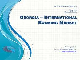 DNC SPAM - Kick-off Meeting of Roaming Expert Working Group of