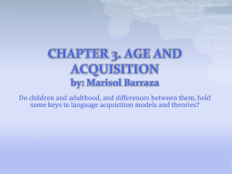 chapter 3. age and acquisition