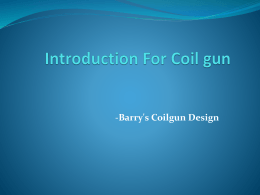 Introduction For Coil gun