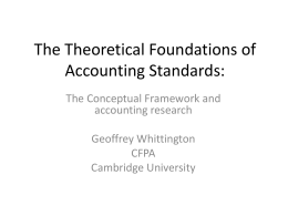 The Theoretical Foundations of Accounting Standards