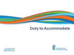 Duty to Accommodate