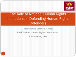the full presentation - South African Human Rights Commission