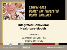 Integrated Behavioral Health Models