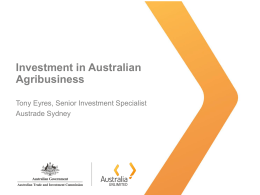 Investment in Australian agribusiness