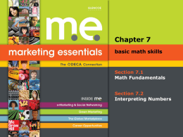 Marketing Essentials_ Chapter 7_Basic Math Skills_.ppt