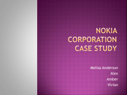 NOKIA CORPORATION CASE STUDY