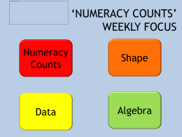 Numeracy Counts